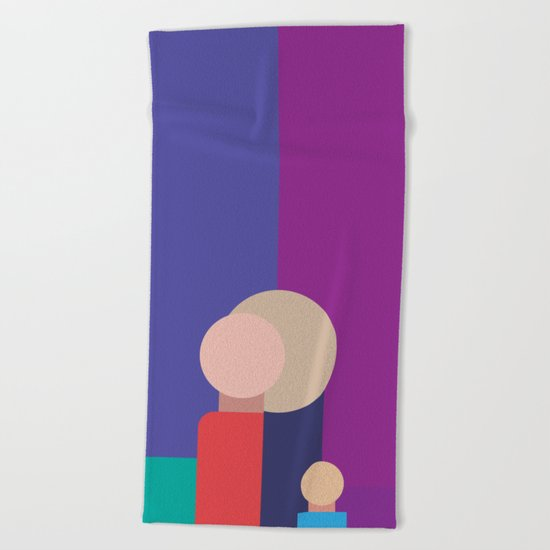 Family - Father, Mother, Child Beach Towel