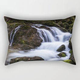 Magical waterfall in gorge Hell Rectangular Pillow