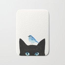 Cat and Bird Bath Mat
