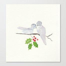Turtle Dove Love Canvas Print