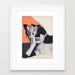 collage art / butterfly Framed Art Print