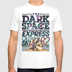 The Dark Space Mens Fitted Tee White MEDIUM