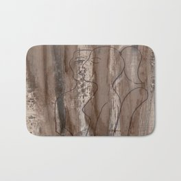 Kiss Me - Vintage - Modern Art Abstract - Picasso Style Bath Mat