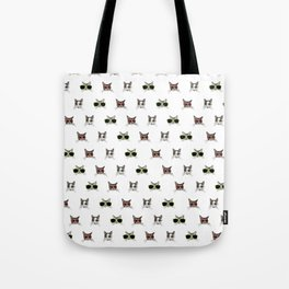 Cats Wearing Sunglasses Pattern Tote Bag