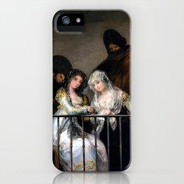 Francisco Goya Majas on a Balcony iPhone Case