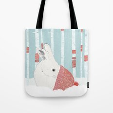 A cold winter for bunnies Tote Bag