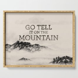 Go Tell It On The Mountain Serving Tray