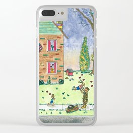 Welcome Home Soldier Clear iPhone Case