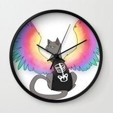 Magical Rainbow Cat Wall Clock