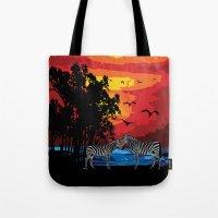 safari Tote Bags featuring Safari  by Cindys