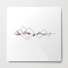 #413 Sunken city – Geometry Daily Metal Print