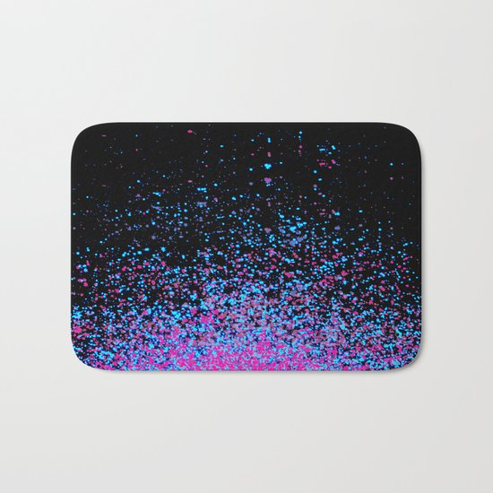 infinity in blue and purple Bath Mat