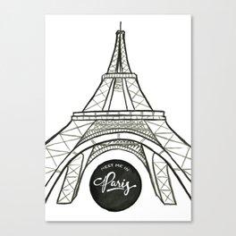 meet me in paris Canvas Print