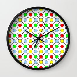 new polka dot 12 - multicolor Wall Clock