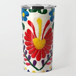 Red Mexican Flower Travel Mug