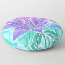 Sacred Lotus – Lavender Blossom on Mint Palette Floor Pillow