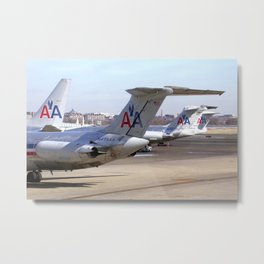 American  Airlines Tails Metal Print
