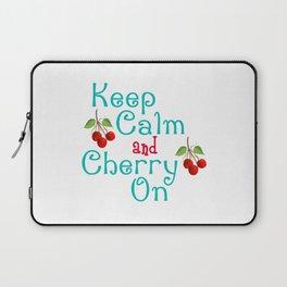 Keep Calm And Cherry On Laptop Sleeve