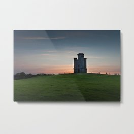 Sunset at Paxton's Tower Metal Print