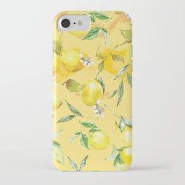 Watercolor lemons 5 iPhone Case