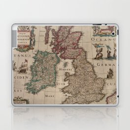 Vintage Map of The British Isles (1617) Laptop & iPad Skin