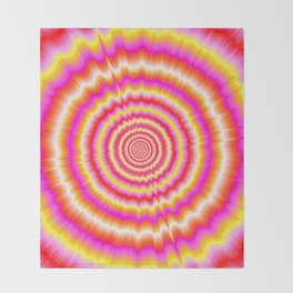 Shockwaves in Violet and Yellow Throw Blanket