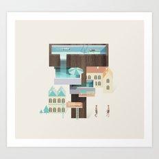 Resort Type - Letter T Art Print