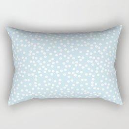Palest Blue and White Polka Dot Pattern Rectangular Pillow