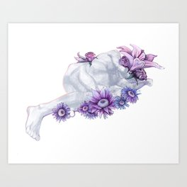 A Relaxed Flower Art Print