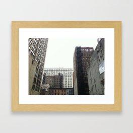 new york skyline (one) Framed Art Print