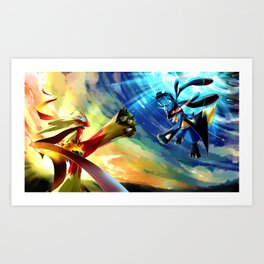 Poke GO collection Art Print