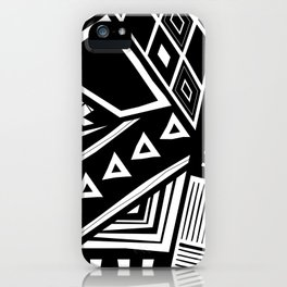 B&W Tribal Medley iPhone Case