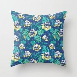 SKULLS & FLOWERS Throw Pillow