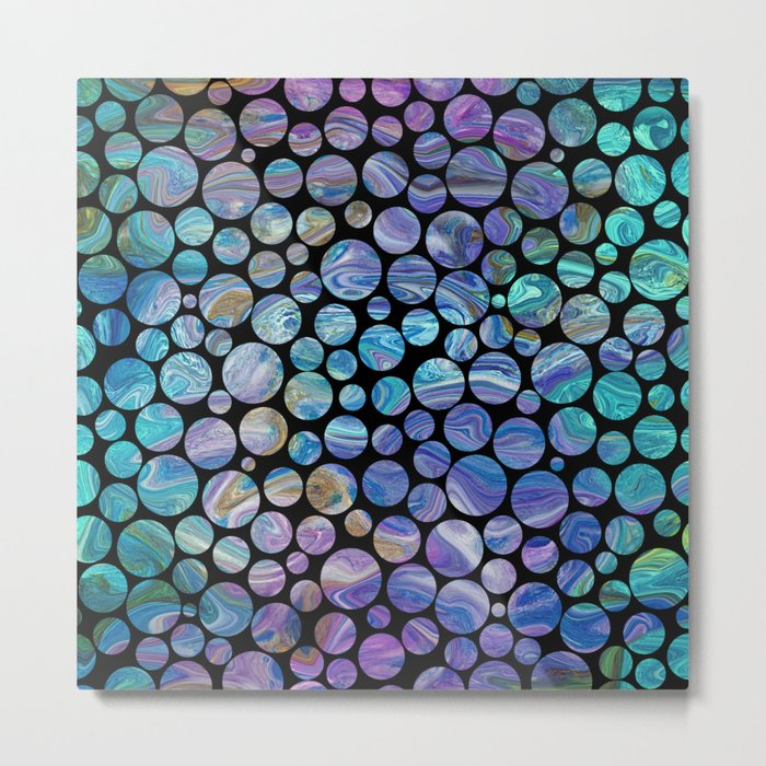 Marble Effect Dots 2 Metal Print