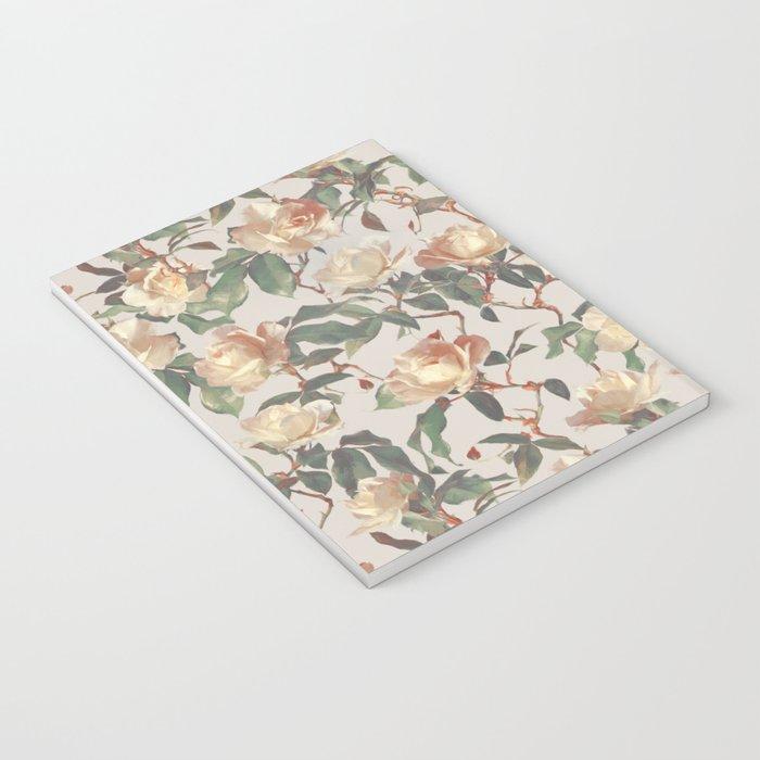 Soft Vintage Rose Pattern Notebook