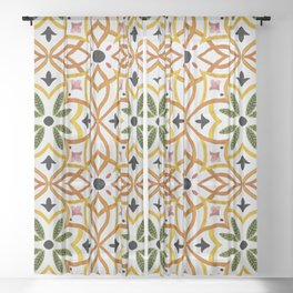 Obsession nature mosaics Sheer Curtain