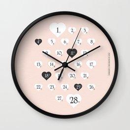 February The Month of Love #society6 #love #buyart Wall Clock