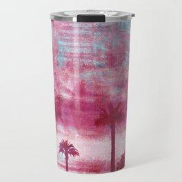 Pacific Island Grunge Look Mixed Media Art Travel Mug