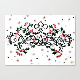 Christmas Plaq Canvas Print
