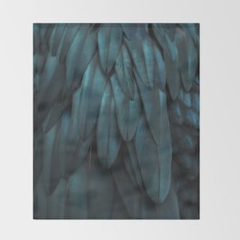 DARK FEATHERS Throw Blanket