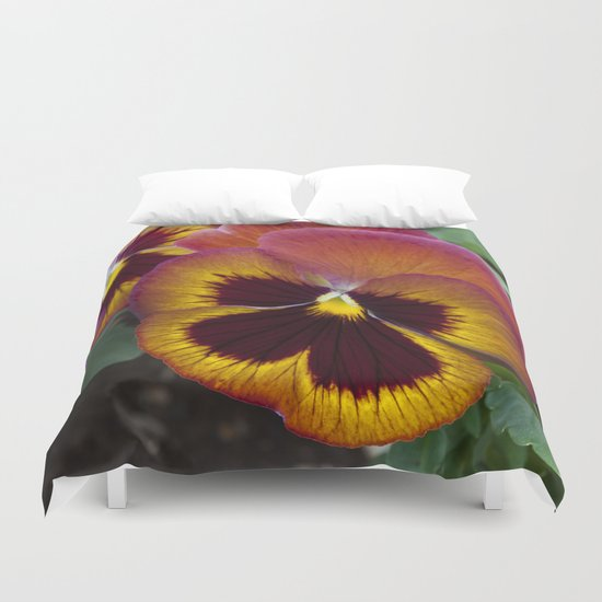 Pansy Painted Duvet Cover