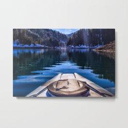 Kayaking in McCloud Northern California Metal Print