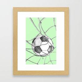 Goal in green Framed Art Print