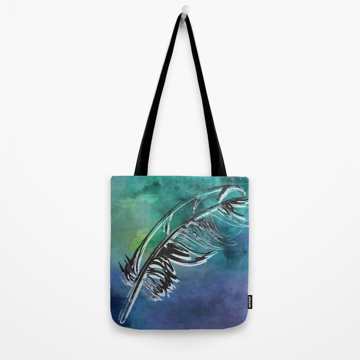 Flying Feather Tote Bag