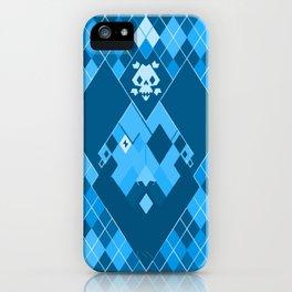 Arrrrrgyle -Blue iPhone Case