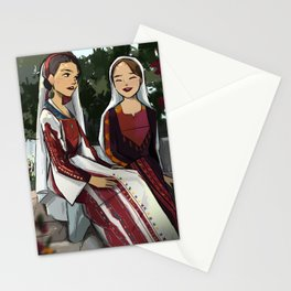 Mid afternoon chat Stationery Cards
