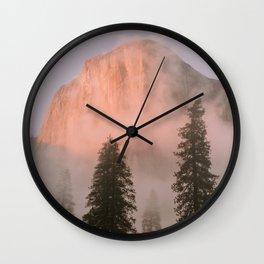 Yosemite Sunset Wall Clock