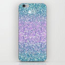 Blue & Lilac Mermaid Glitter Ombre iPhone Skin