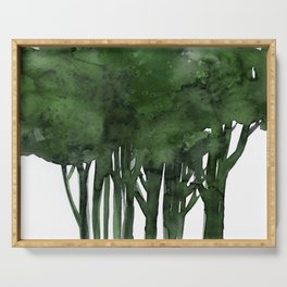 Tree Impressions No.1C by Kathy Morton Stanion Serving Tray
