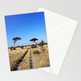 Path through Africa - Central Kalahari, Botswana Stationery Cards